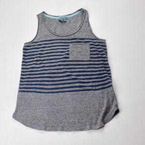 ❤C&C California Grey & Blue Striped Tank 3 for $15